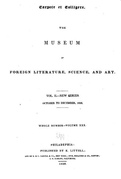 Download The Museum of Foreign Literature  Science  and Art Book