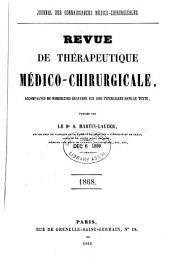 Revue de thérapeutique médico-chirurgicale: Volume1868