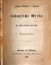 Johann Gottfried v. Herder's sämmtliche Werke in vierzig Bänden: Band 25