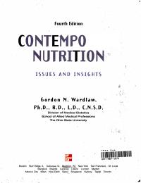Contemporary Nutrition