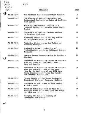 Report of Beef Cattle forage Research  1973