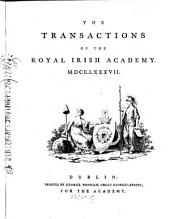 The Transactions of the Royal Irish Academy: Volume 1