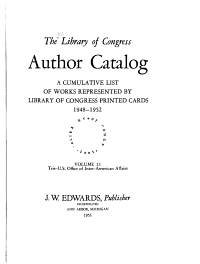 The Library of Congress Author Catalog PDF