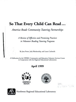 So that Every Child Can Read