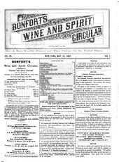 Bonfort's Wine and Spirit Circular: Volume 28