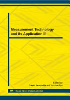 Measurement Technology and its Application III PDF