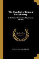 The Chapters of Coming Forth by Day PDF