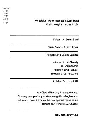 Pergolakan reformasi   strategi HMI PDF