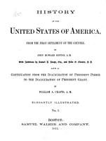 History of the United States of America  from the First Settlement of the Country PDF