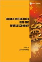 China s Integration Into the World Economy PDF
