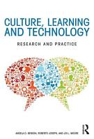 Culture  Learning  and Technology PDF