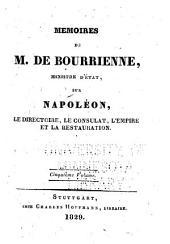 Memoirs sur Napoléon, le directoire, le consulat, l'empire et la restauration: Volume5