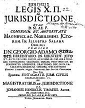 Exegesis legis X.II. de iurisdictione