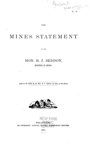Mines Statement and Goldfields Report