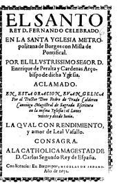 Oracion panegirica, y historica de las virtudes y glorias de S. Prudencio obispo de Tarazona ... en la junta general, y provincianas Cortes,