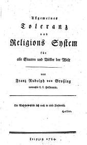 Allgemeines Toleranz- und Religions-System für alle Staaten und Völker der Welt