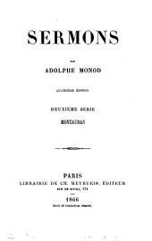 Sermons: Montauban, Volumes2à3