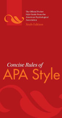 Concise Rules of APA Style Book