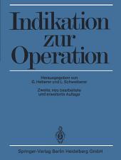 Indikation zur Operation: Ausgabe 2