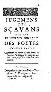 Contenant Les Poetes ; Seconde Partie: Volume 2; Volume 4