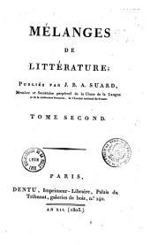 Mélanges de littérature: Volume1