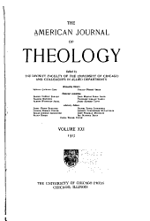 The American Journal of Theology: Volume 21
