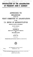 Investigation of the Assassination of President John F  Kennedy PDF
