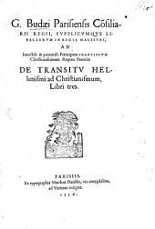 De transitu Hellenismi ad Christianismum: libri tres