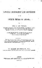 The National Restoration and Conversion of the Twelve Tribes of Israel PDF