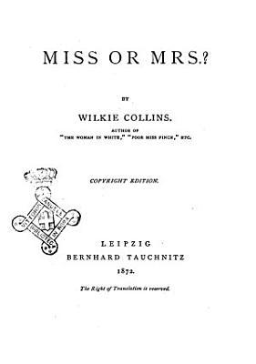 Miss or mrs  by W  C PDF