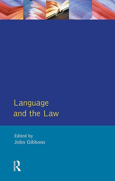 Download Language and the Law Book