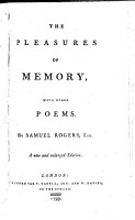 The Pleasures of Memory  with Other Poems     A New and Enlarged Edition PDF