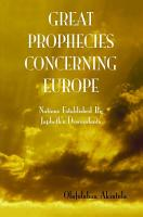 Great Prophecies Concerning Europe  PDF