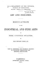 Art and Industry: (1897) Industrial and technical training in voluntary associations and endowed institutions