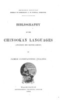 Bibliography of the Chinookan Languages  including the Chinook Jargon  PDF
