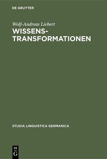 Wissenstransformationen PDF
