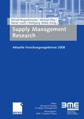 Supply Management Research: Aktuelle Forschungsergebnisse 2008