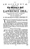An account of   together with  the Writing it Self that was found in the Pocket of L  H  at the time He and Green were Executed      for the murder of Sr E  Godfrey Kt PDF