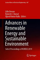 Advances in Renewable Energy and Sustainable Environment PDF