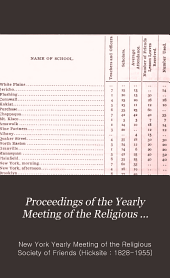 Proceedings of the Yearly Meeting of the Religious Society of Friends, Held in New York