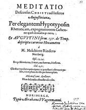 Meditatio descensus Christi ad inferos Augustiniana