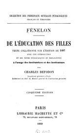 De l'éducation des filles: texte collationné sur l'édition de 1687