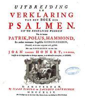 Verklaring van de geheele Heilige Schrift, door eenigen van de voornaamste Engelsche godgeleerden: Volume 15