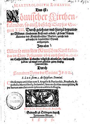Martyrologium Romanum  das ist  R  mischer Kirchenkalender PDF