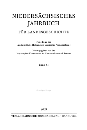 Nieders  chsisches Jahrbuch f  r Landesgeschichte PDF