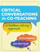 Critical Conversations in CoTeaching PDF