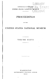 Proceedings of the United States National Museum: Volume 36