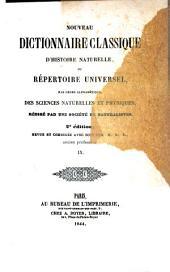 Nouveau dictionnaire classique d'histoire naturelle; ou, Répertoire universel des sciences naturelles et physiques: Volume9