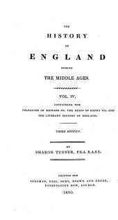 The History of England from the Earliest Period to the Death of Elizabeth: The history of England: middle ages. In five volumes