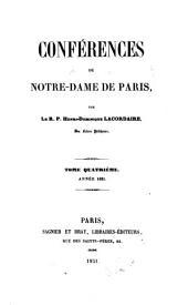 Conférences de Notre-Dame de Paris: Volume4